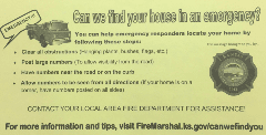 Can We Find Your House in an Emergency Cards