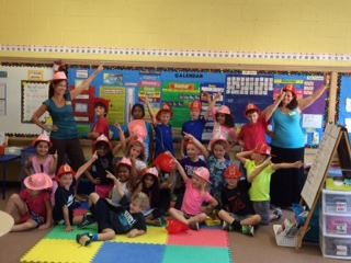 Kids Celebrating Fire Prevention Week in a Classroom